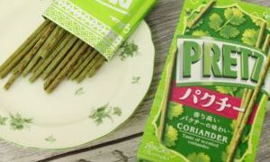 ローソンで先行発売した「プリッツパクチー」はパクチー8%使用!?