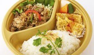 タイ国大使館商務部とシャショクルがコラボした「豚肉とハーブのカピ炒め弁当」が期間限定販売