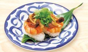 回転寿司のスシローに「旨辛 食べるトムヤムクンすし」が数量限定で新登場