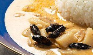 昆虫食とタイ料理のコラボレーション!「こおろぎカレー マッサマン風」新発売